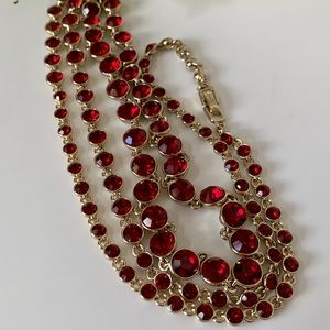 VTG Givenchy Bezel Edge Crystal Stones Necklace
